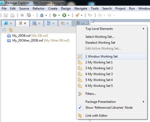 Blog - Package Explorer - 3 - Window Working Set Selected