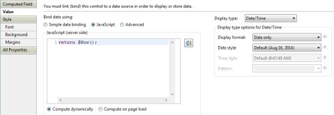 Date Format 1a Default Date Format - Settings