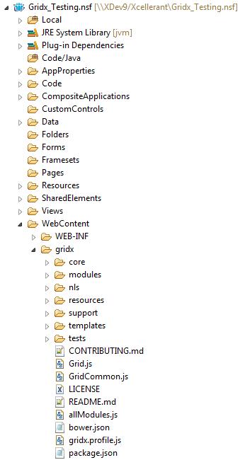 Gridx 2 - WebContent Folder