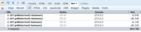 Gridx 7 - Net Panel Sort Requests