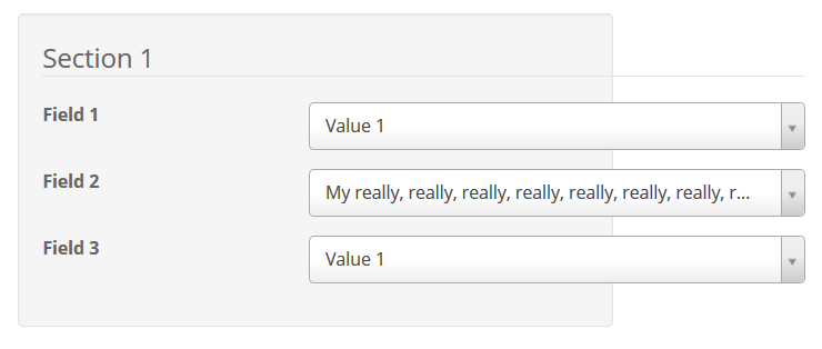 Fixing the Width of a Select 2 with a Long Value in a Bootstrap ...