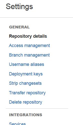 bitbucket delete repository