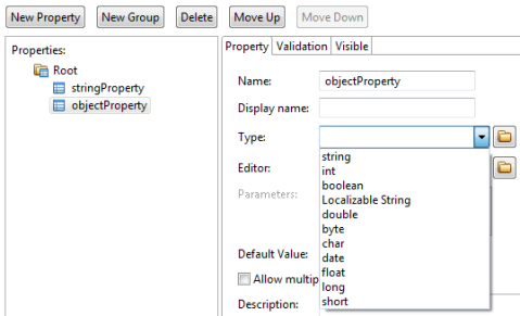 Custom Property - Primitive Types